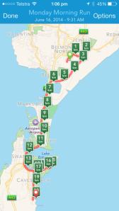 map of 20km run