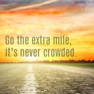 go extra mile